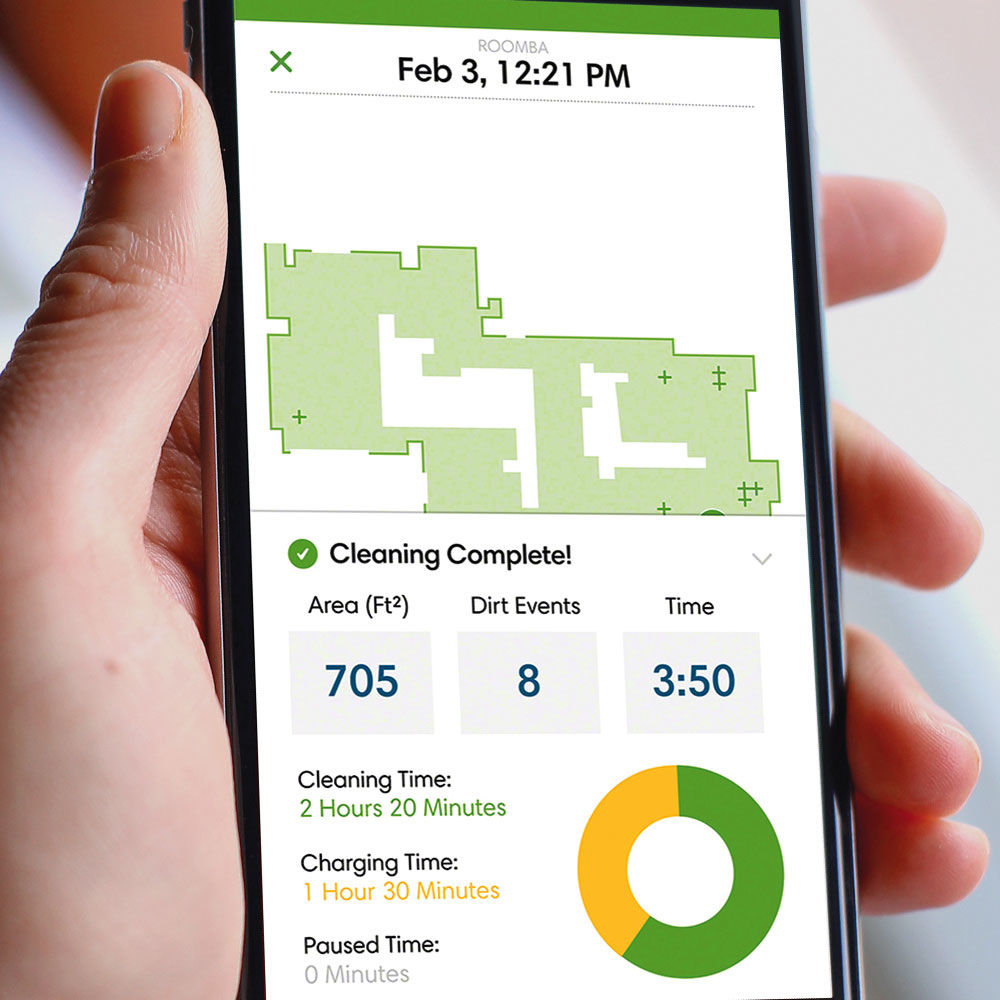 Roomba 960 cleaning report