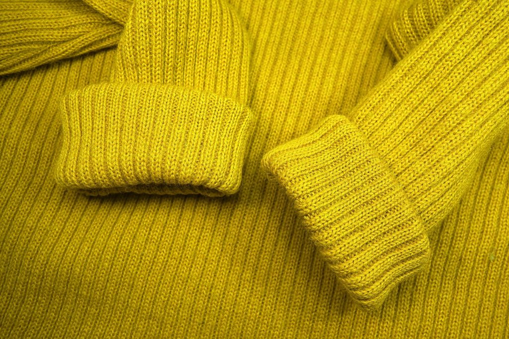 mustard woolen sweater